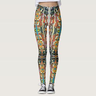 Miezekatze-Kaleidoskop-Muster Leggings