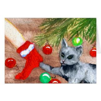 Miezekatze-Katze ist es Weihnachts-dennoch Karte