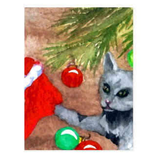Miezekatze-Katze ist es Weihnachts-dennoch Postkarte