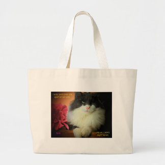 Miezekatze-Katze nicht ängstlich von der Jumbo Stoffbeutel