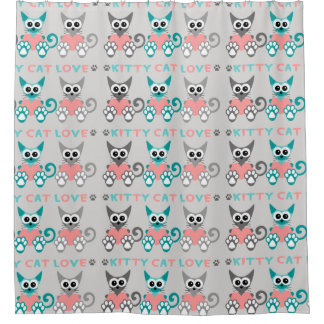 Miezekatze-Katzen-Duschvorhang Duschvorhang