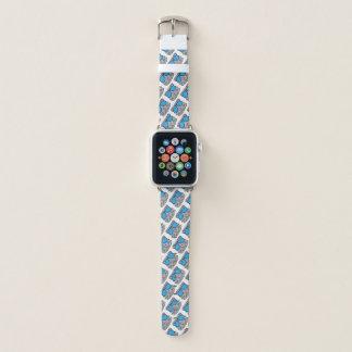 Miezekatze-Katzen-Gesichts-Gekritzel Apple Watch Armband