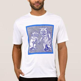 Miezekatze-Katzen im Blau durch Louis Wain T-Shirt