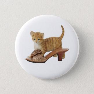 Miezekatze-Katzen-Kätzchen-Knopf Runder Button 5,1 Cm