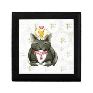 Miezekatze-Katzen-König Queen Funny Art Erinnerungskiste