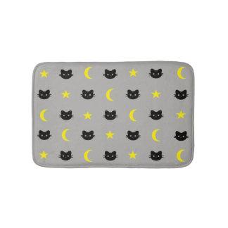 Miezekatze-Katzen-Mond und Stern-Bad-Matte Badematte