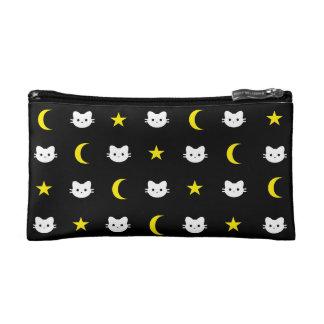 Miezekatze-Katzen-Mond-und Stern-Kosmetik-Tasche Makeup-Tasche