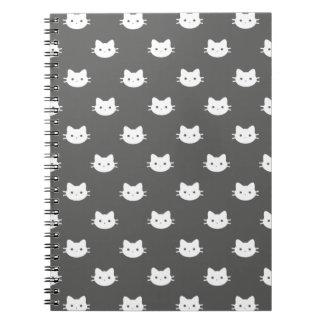 Miezekatze-Katzen-Notizbuch Spiral Notizblock