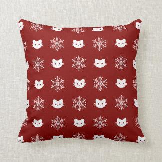 Miezekatze-Katzen-Schneeflocke-Wurfs-Kissen Kissen
