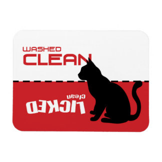 Miezekatze-Katzen-Spülmaschinen-Magnet - gelecktes Magnet