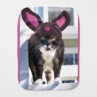 Miezekatze-Katzen-tragende Häschen-Ohren Spucktuch