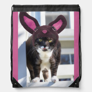 Miezekatze-Katzen-tragende Häschen-Ohren Turnbeutel