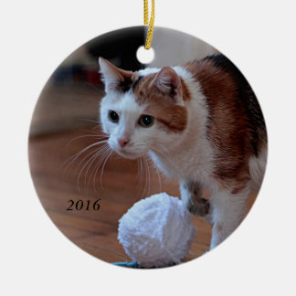 Miezekatze Rundes Keramik Ornament
