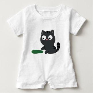 Miezekatze-und Gurken-Illustration Baby Strampler