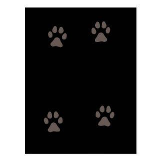 Miezekatzepussy-Katzen-Tatzen-Drucke Postkarte