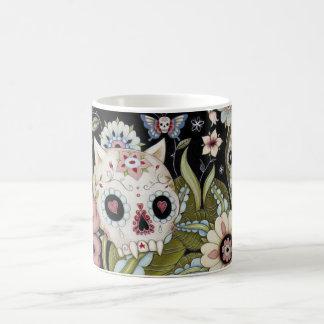 MiezekatzeScull und Luna-Motte Kaffeetasse