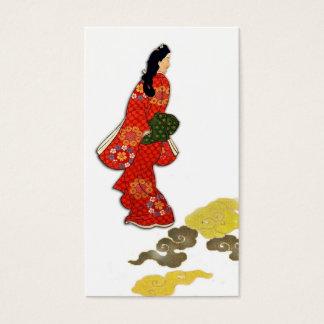 Mikaeri Bijin im Kimono Visitenkarte