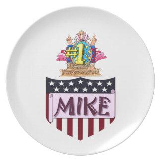 Mike der Nr.-eine Teller