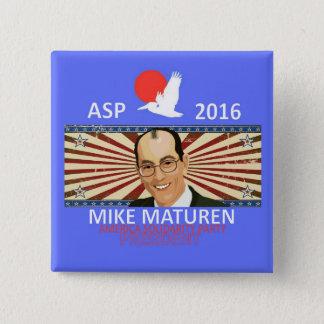 Mike Maturen Asp Quadratischer Button 5,1 Cm
