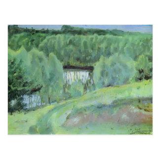 Mikhail Nesterov- Teich Postkarte
