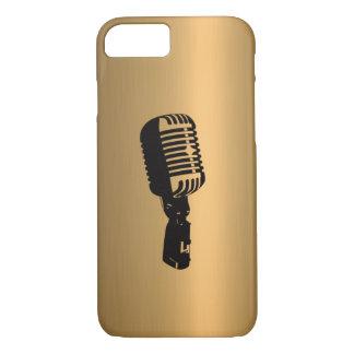 Mikrofon auf kupfernem Bronzeeffekt iPhone 8/7 Hülle