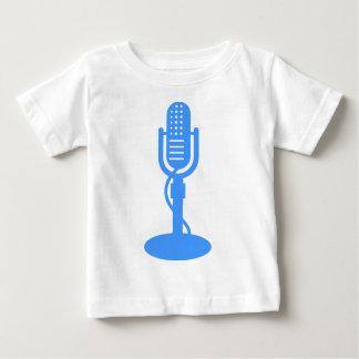Mikrofon- Baby-Blau Baby T-shirt