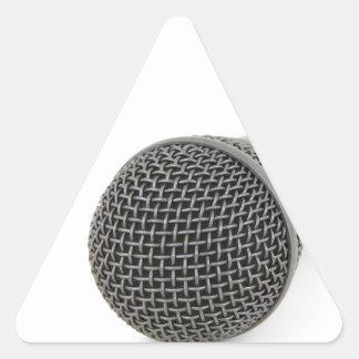 Mikrofon- Gespräch zu mir Dreieckiger Aufkleber