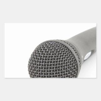 Mikrofon- Gespräch zu mir Rechteckiger Aufkleber