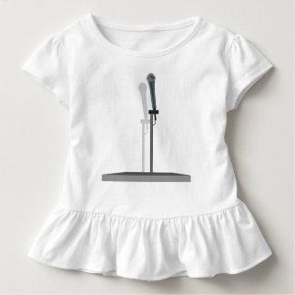 Mikrofon-Kleinkind-Rüsche-T-Stück mit Stand Kleinkind T-shirt