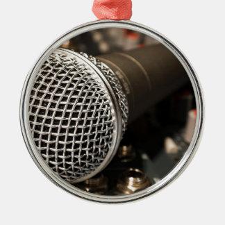 Mikrofon-Mischer-Kabel-Mikrofon-Kabel-Gesang Silbernes Ornament