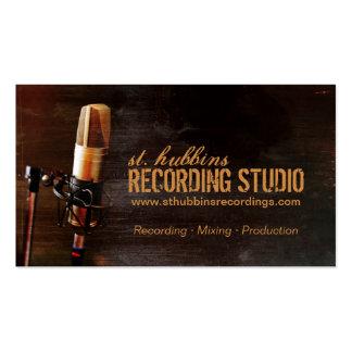 Mikrofon-Musik-Studio-Visitenkarte