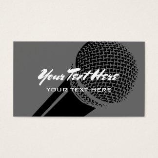 Mikrofon-Visitenkarteschablonen-Logoentwurf Visitenkarten
