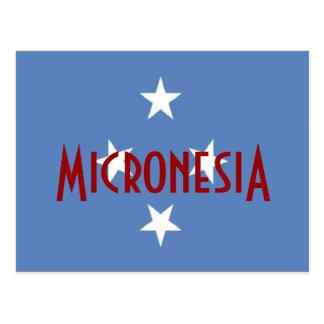 Mikronesien-Flagge Postkarte