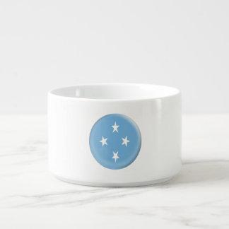 Mikronesische Flagge Mikronesiens Kleine Suppentasse