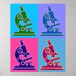 Mikroskop-Pop-Kunst Poster