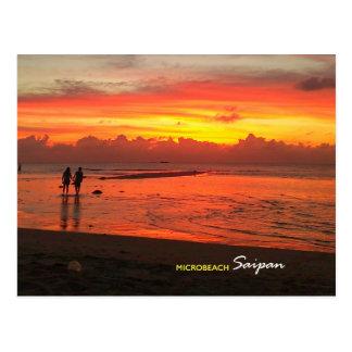 Mikrostrand, Saipan-Postkarte Postkarte