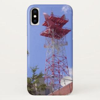 Mikrowellen-Relais-Radio-Telekommunikations-Turm iPhone X Hülle