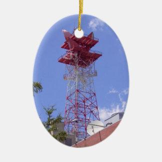 Mikrowellen-Relais-Radio-Telekommunikations-Turm Keramik Ornament