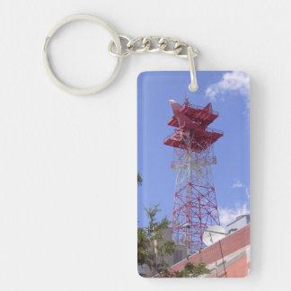 Mikrowellen-Relais-Radio-Telekommunikations-Turm Schlüsselanhänger