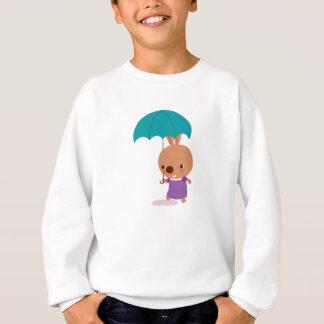 Mila Häschen mit Regenschirm vom Sweatshirt