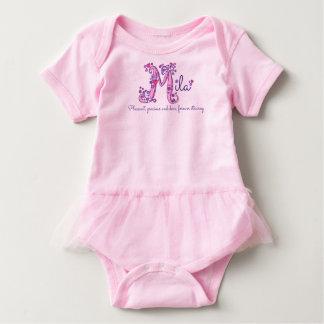 Mila Name und Bedeutung beschriften m-Babykleidung Baby Strampler