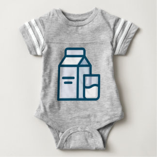 Milch Baby Strampler