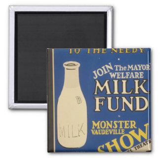 Milch für Wärme Quadratischer Magnet