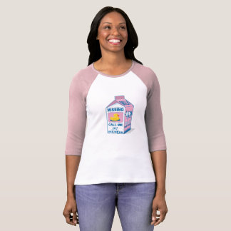 Milch-Karton-vermisste Ente T-Shirt