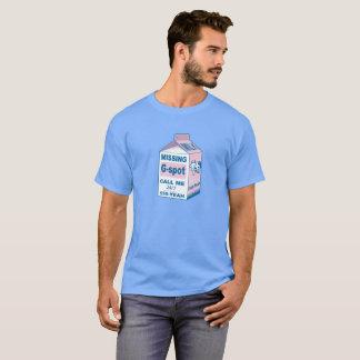 Milch-Karton vermisste G-Stelle T-Shirt