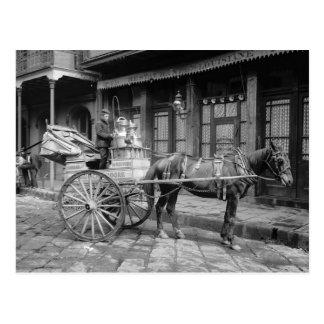 Milch-Lieferung Cart, 1903 Postkarte