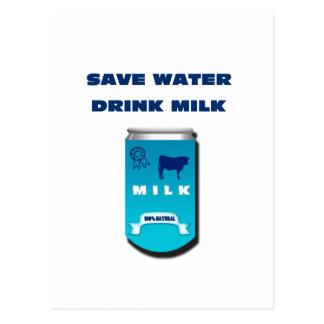 Milch Postkarte