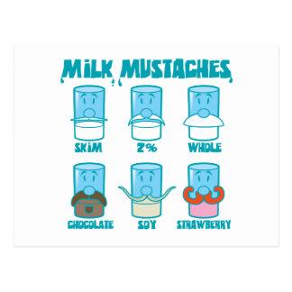 Milch-Schnurrbärte Postkarte