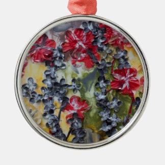 Milch und Honig Rundes Silberfarbenes Ornament