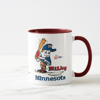 Milchiger Baseball-Spieler Minnesota Tasse
